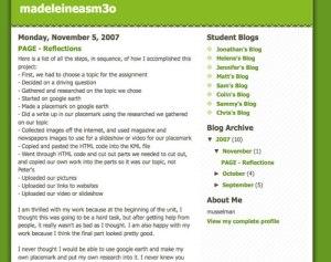 Madeleine's Blog